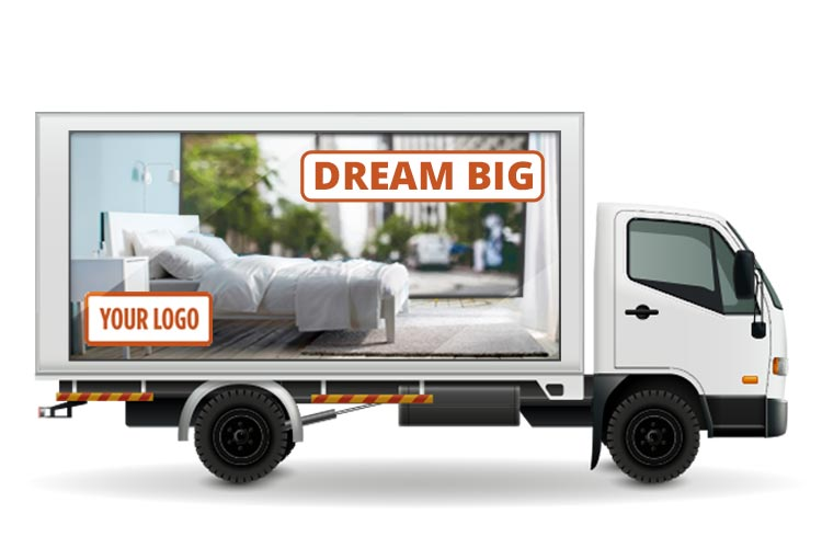 3D Mobile Billboard Display Showrooms | Mobile Billboard Rental | ILUMADS